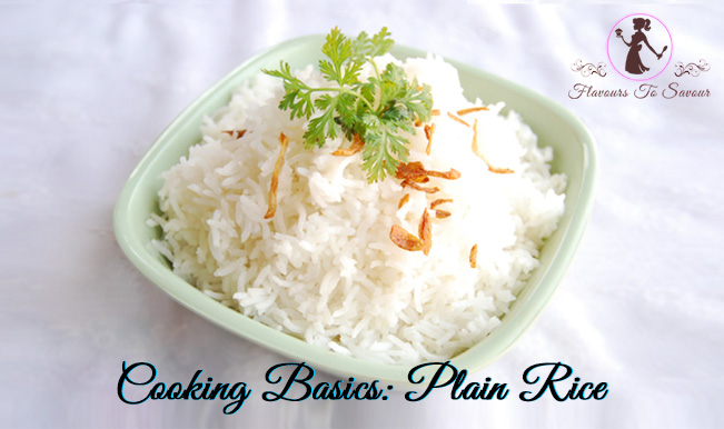 How to cook plain rice?