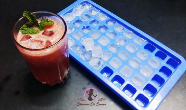 Watermelon-Ice Slushy Drink Recipe