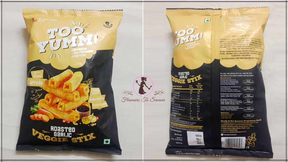 Too Yumm Garlic Flavours Snacks Product Review