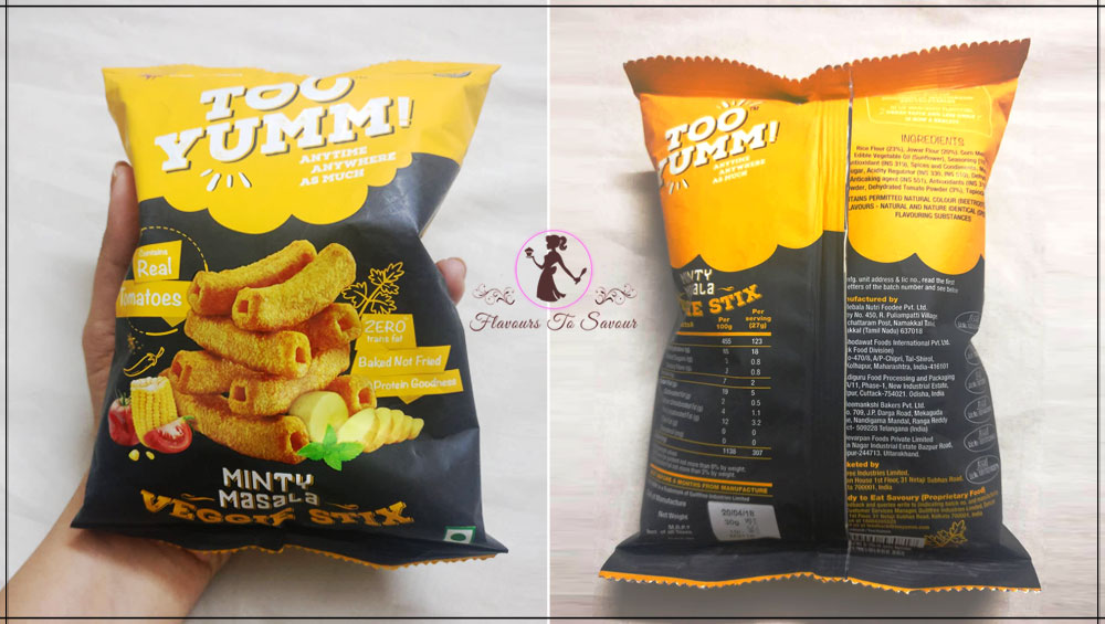 Too Yumm Minty Masala Flavour Healthy Snacks Product Review