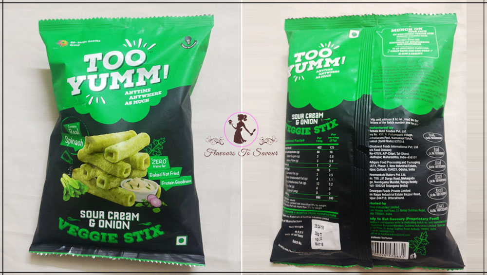 Too Yumm Garlic Flavour Healthy Snacks Product Review