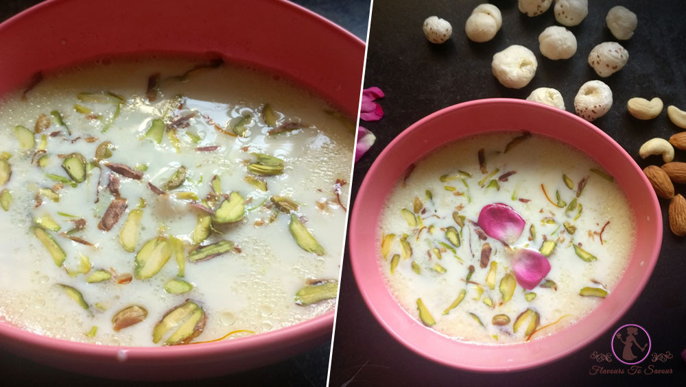 Makhana Kheer Recipe Navratri Special Dish