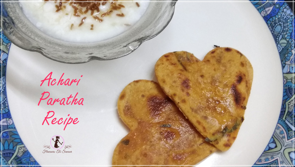 New Achari Paratha Recipe