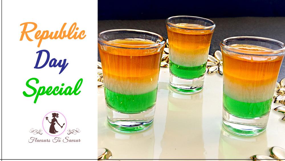 Republic Day Special Dish: Tri-Colour Jello Shots