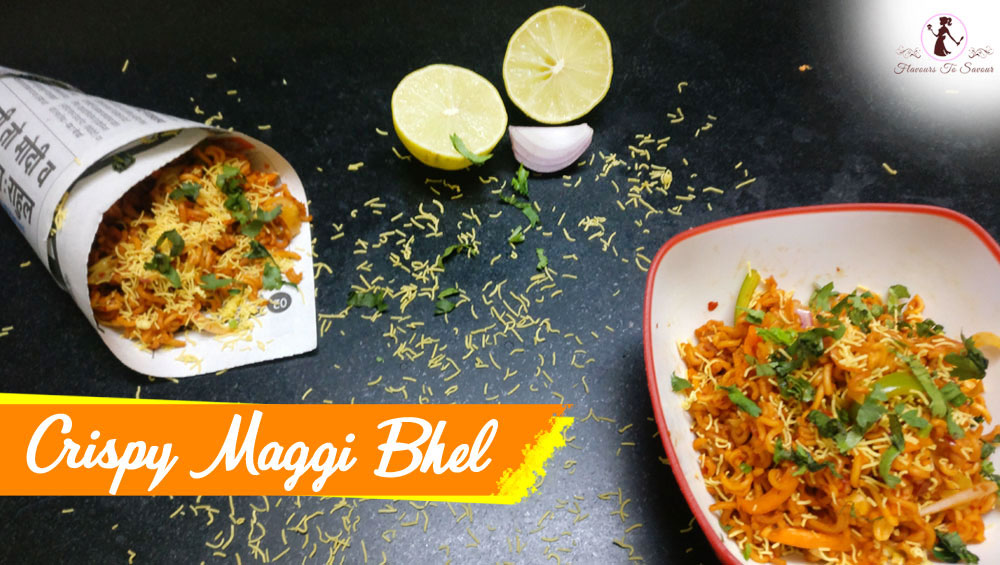 Latest Crispy Maggi Bhel Recipe