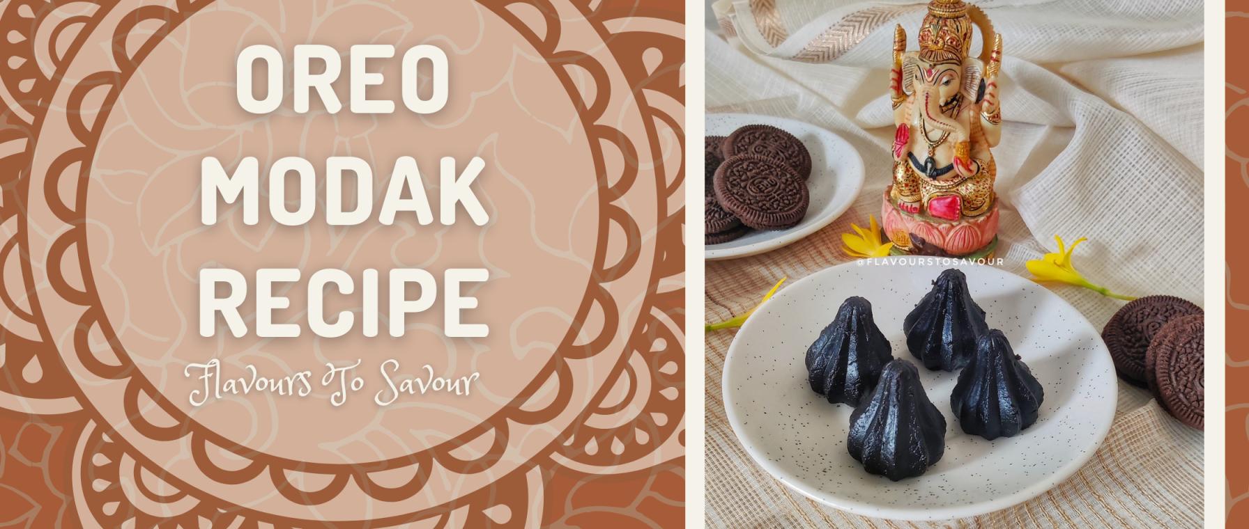 Oreo Biscuit Modak Recipe at home